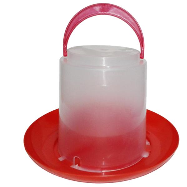 Вакуумная пластиковая поилка для домашней птицы  3