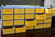 Органайзер-касетница с выдвижными ячейками для хранения мелочей